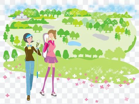 女子高爾夫