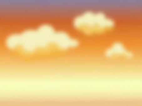 日落天空和雲彩
