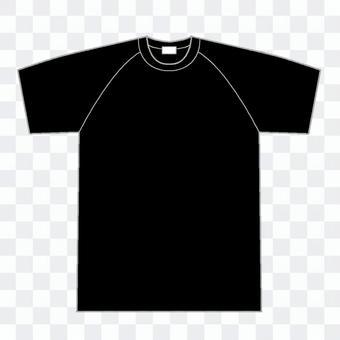 ラグラン袖黒Tシャツ