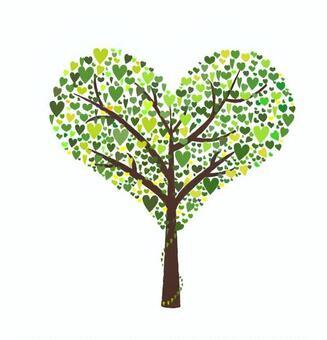 Tree made of heart