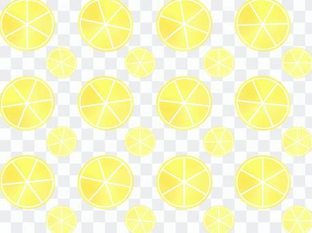 片水彩風格的檸檬