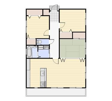 3LDK Floor Plans ② (2D Plane Character None)