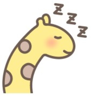 Giraffe animal animal print sleep