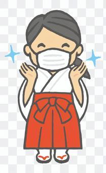 巫女のお仕事シリーズ7 手洗いマスク