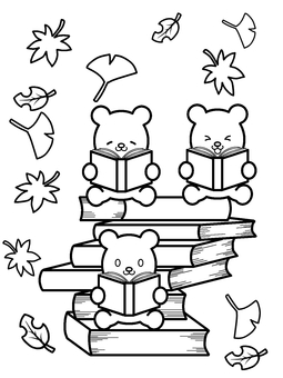 Akiko bear 3 brothers for reading for coloring
