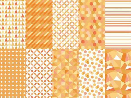 幾何圖案集/橙色