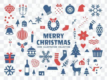 聖誕節的簡單圖標說明