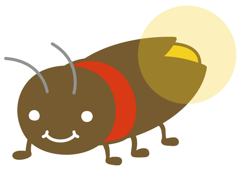 Cute firefly illustration