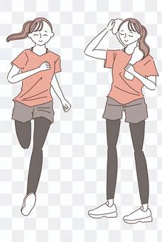跑步/女子