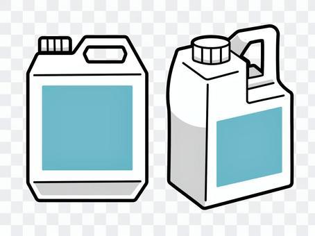 角型ボトル容器(1L/2L)のイラスト