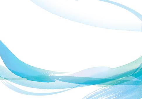 水/風/美意像水彩手繪藍色背景