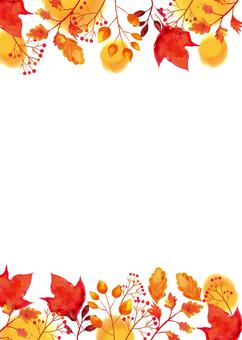 水彩秋季植物背景素材