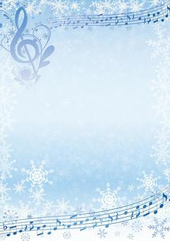 Winter frame material with elegant notes