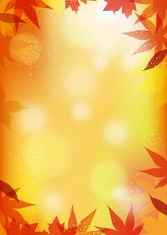 秋天的樹葉背景高度01