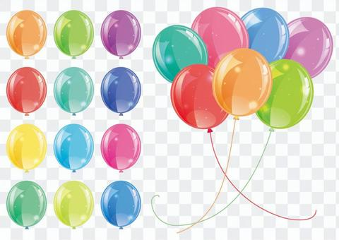 氣球五顏六色的集合