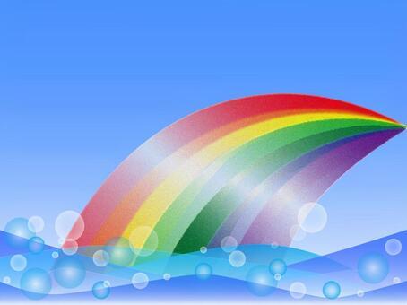 海と輝く虹