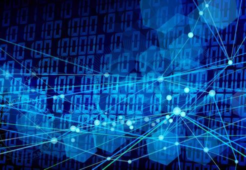 Blue digital image background