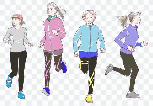 奔跑的女人