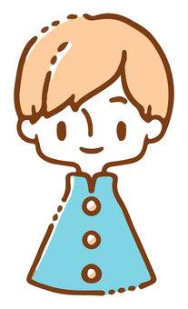 Gakuran boy image_simple color