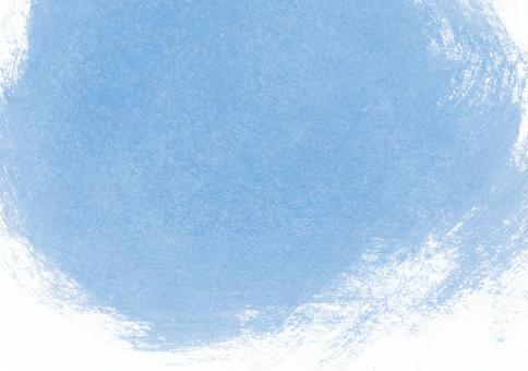 水彩紋理橫幅藍色