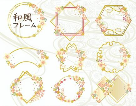 Summary of frame of Japanese style frame cherry blossoms