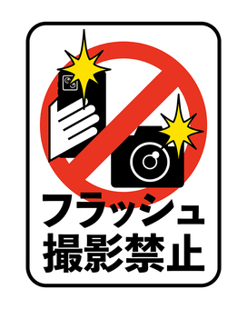 禁止閃光拍攝顯示