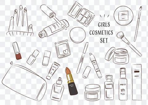 化妝品化妝品女孩