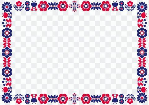 斯堪的納維亞花框架