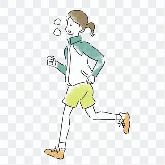 Woman jogging / running