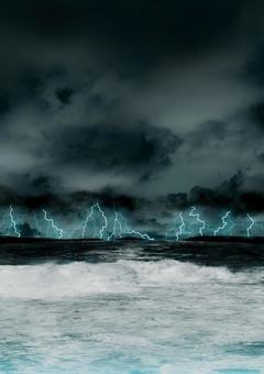 嵐の海・縦
