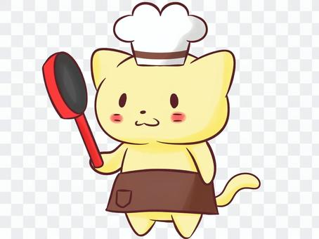 Cat and chef