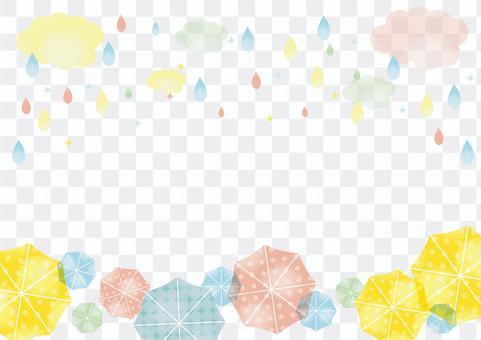 Background material for rainy season and umbrella