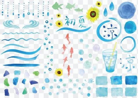 一種很酷的藍色水彩材料