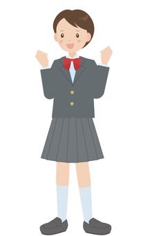 女學生穿制服(西裝外套)A