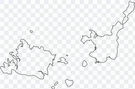 西表島_石垣島_畫線