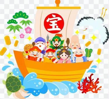 七福神乘坐的宝船