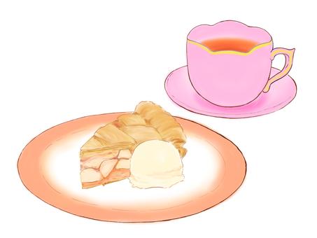 케이크와 차