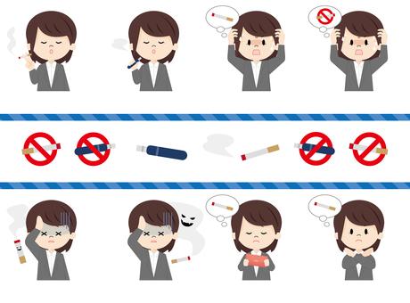 Female suit _ smoking