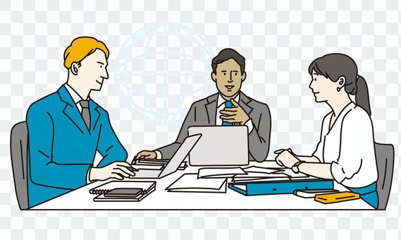 Business person to have a meeting