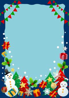 聖誕節項目相框紅色水平