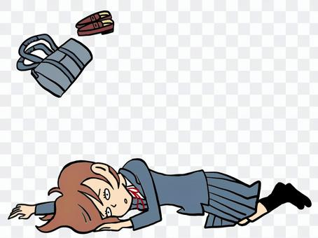 Female student who collapses