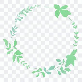 令人耳目一新的綠色花圈裝飾框架