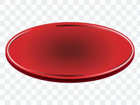 Red round plate