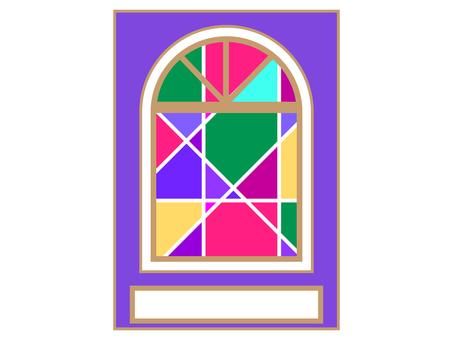 彩色玻璃風格窗口背景
