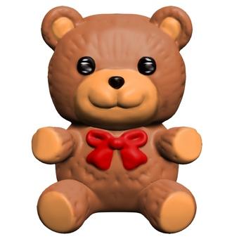Plush bear deformed CG
