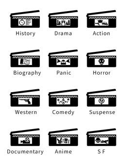 電影拍攝道具 Clapperboard(英文符號)
