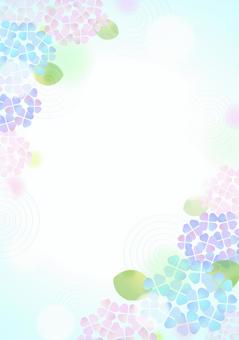 柔和色彩的繡球花背景5