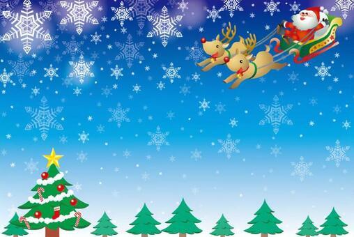 Santa and tree frame
