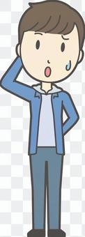 中学生男子私服-018-全身