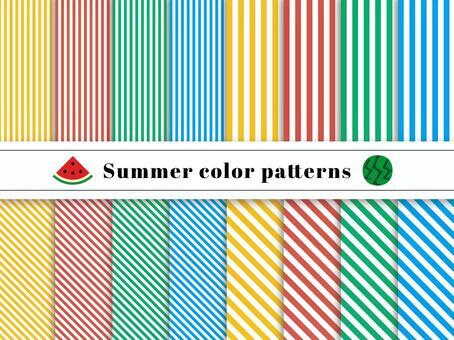 條紋圖案色板夏天顏色